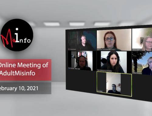 AdultMisinfo – 3rd Online Meeting